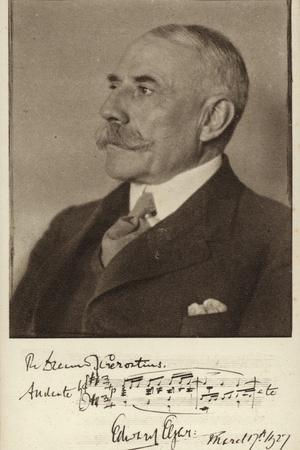 Edward Elgar - Postcard with Signature and Part of Score from 'Gerontius'