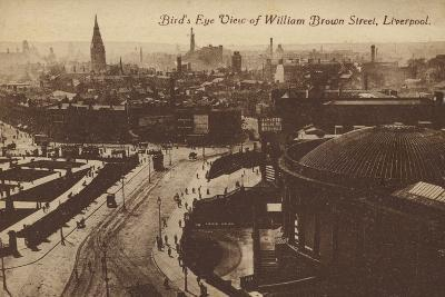 Bird's Eye View of William Brown Street, Liverpool