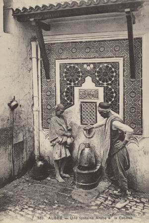Arab Drinking Fountain in the Casbah, Algiers, Algeria