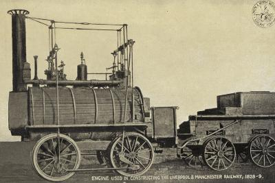 Engine Used in Constructing the Liverpool and Manchester Railway, 1828-9