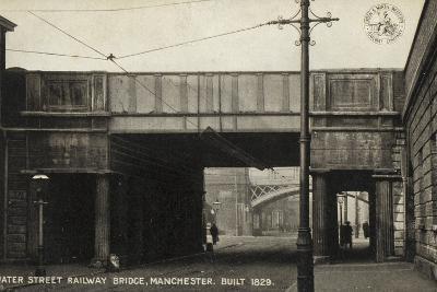Water Street Railway Bridge, Manchester, Built 1829