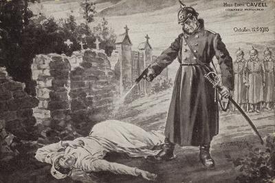 Murder of Edith Cavell, World War I, 12 October 1915