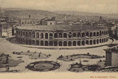 Postcard Depicting the Ancient Roman Amphitheatre in Verona