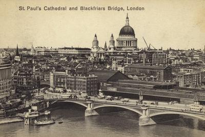St. Paul's Cathedral and Blackfriars Bridge, London