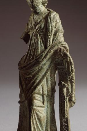 Female Figure in Bronze Making an Offering, from Montalcino