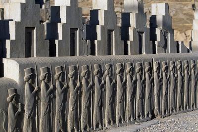 Bas-Relief Depicting Persian Guards, Tryplon or Board Room, Persepolis