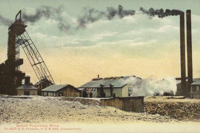 Postcard Depicting the Geduld Proprietary Mines in Johannesburg