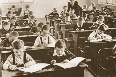 Beginning of the Term at School, No. 170, Sverdlov District, Moscow, 1946
