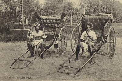 Postcard Depicting Typical South African Ricksha Boys