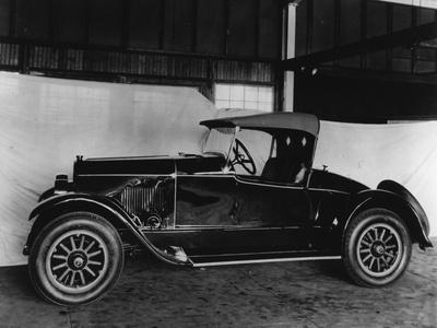 Dupont Automobile Inside Warehouse Against Sheet, C.1919-30