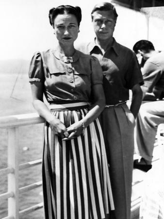 The Duke and Duchess of Windsor on Deck, C.1930-50