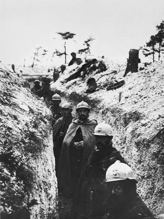 A German Trench Occupied by French Soldiers, November 1915
