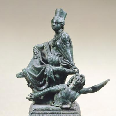 Tyche of Antioch with River Orontes, Bronze Statue from Tortosa
