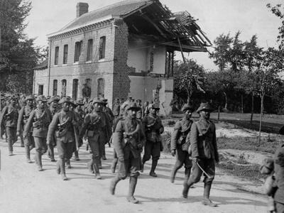 The Garhwal Rifles Marching Down La Bassee Road, August 1915