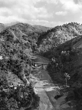 Peaks, Valleys and a Stream in the Blue Mountains, Jamaica, 1954