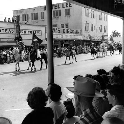 Rodeo Performers Parade Down Krome Avenue in Homestead, 1963