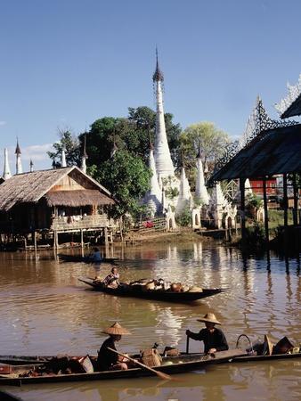 Hpaung Daw U Kyong Pagodas, Inle Lake, Shan State, Myanmar