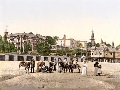 Riding Donkeys on the Beach at Heringsdorf, Germany, Pub. C.1895