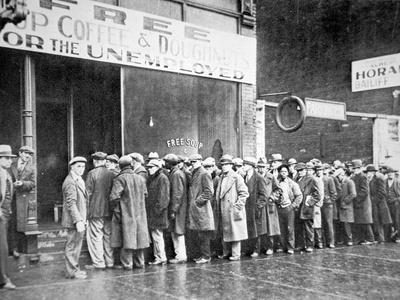 Queue for a Soup Kitchen for the Unemployed in Chicago, C.1933