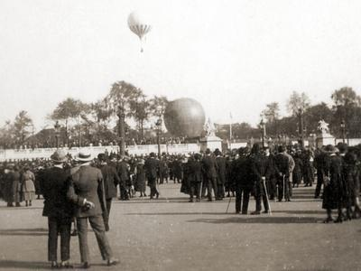 Spectators at an Airshow in Bautzen, Germany, 1922