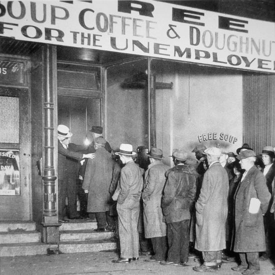 Queue For A Soup Kitchen For The Unemployed In Chicago, C
