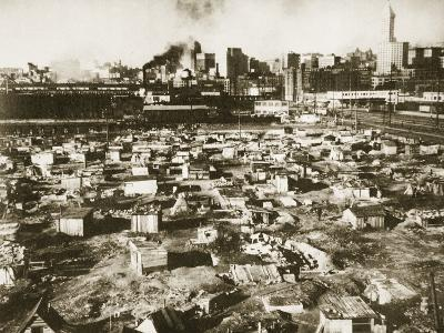 A 'Hooverville' on the Seattle Water-Front, March 1933