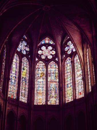 Detail of Windows of Choir of Cathedral of Notre-Dame