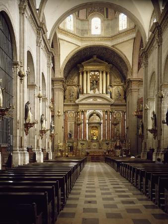 Nave of Church of Santo Domingo, Baroque Style, 18th Century, Mexico City