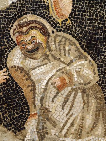 Mosaic Depicting Masked Actor, from Villa of Cicero at Pompeii