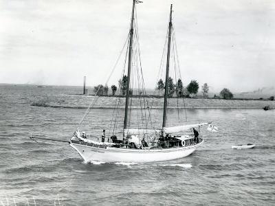 The Schooner 'Alexander Kovalevsky' in the Sea Channel, 1913