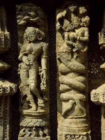 India, Orissa State, Detail of Sculpture from Sun Temple in Konarak