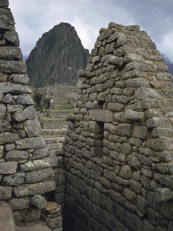 Wall of House Made of Stone Blocks, Machu Picchu Town