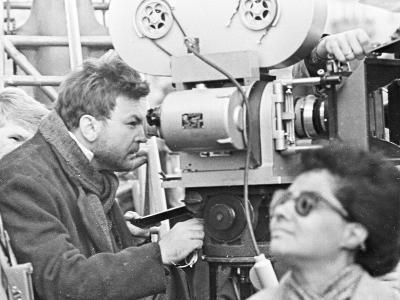 The Film Director Sergei Bondarchuk Shooting 'War and Peace'