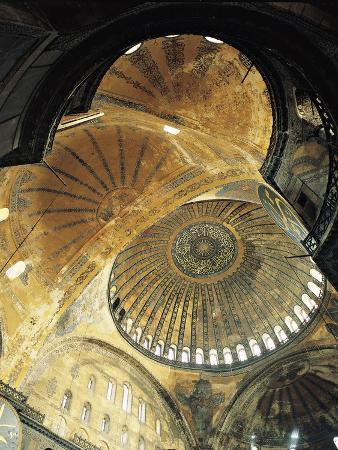 Inside Central Dome, 6th Century, Hagia Sophia, Historic Areas of Istanbul
