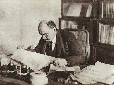 Lenin in His Study in the Kremlin, Moscow, October 1918