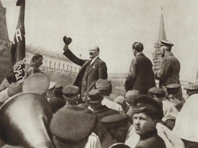 Lenin Addresses Vsevobuch Detachments in Red Square, Moscow, 25 May 1919