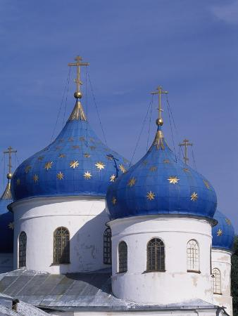 Cupolas of St George's Cathedral in Yuriev Monastery