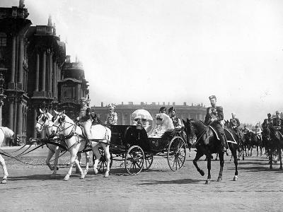 Royal Outing in Palace Square, St Petersburg, 1913