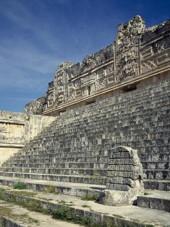 The Nunnery Quadrangle, Detail of the North Building, Uxmal
