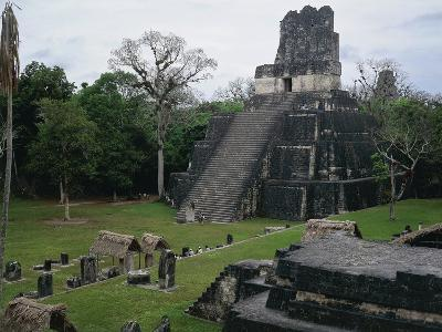 View of Temple 2 known as Las Mascaras or Pyramid of the Moon, Tikal