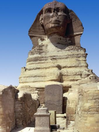 Front View of the Sphinx of Giza, Giza Necropolis