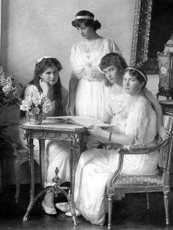 Princesses Tatiana, Maria, Olga and Anastasia, 1914