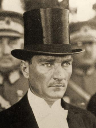 Portrait of Mustafa Kemal Atatürk Wearing a Top Hat, C1919