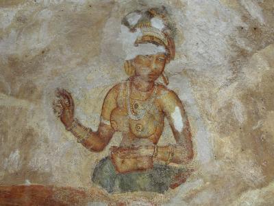 Sri Lanka, Fresco of Girls in Sigirya Archaeological Complex