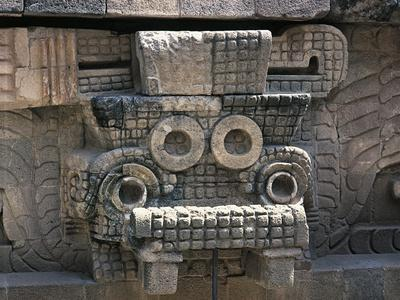Mexico, Mexico City, Teotihuacan Archeological Site, Quetzalcoatl
