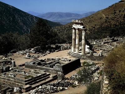 Greece, Cyclades Islands, Delos, Tholos of Athena Pronaia