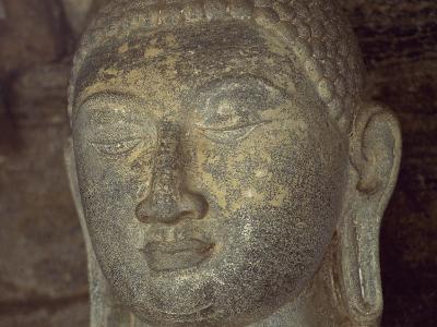 Sri Lanka, Polonnaruwa, Detail of Statue of Buddha of Gal Vihara
