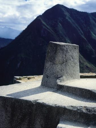 The Intihuatana Prism, or Solar Calendar, Machu-Picchu