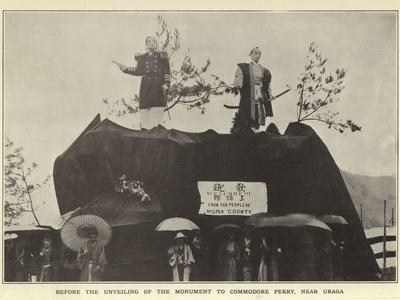Before the Unveiling of the Monument to Commodore Perry, Near Uraga