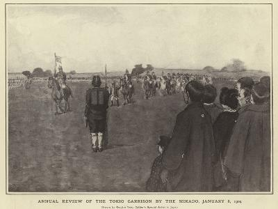Annual Review of the Tokio Garrison by the Mikado, 8 January 1904
